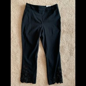 INC Crop Pant with Lace Detail